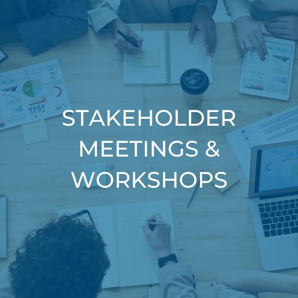 Stakeholder Meetings & Workshops